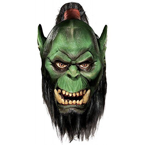Deluxe Orc Mask with Beard Costume Accessory