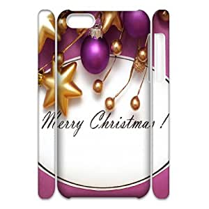 Iphone 5C 3D Personalized Phone Back Case with Christmas theme Image