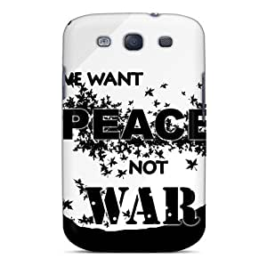New Design Shatterproof ITMsshk1354QFyth Case For Galaxy S3 (we Want Peace Not War)
