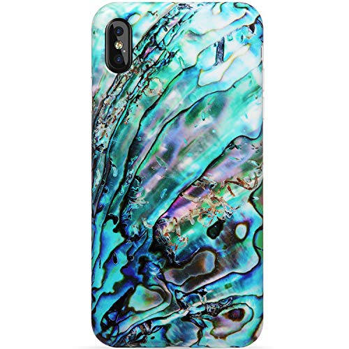 VIVIBIN iPhone Xs Max Case,Green Shell for Girls Women Clear Bumper Soft Silicone Rubber Cute Glossy TPU Cover Slim Fit Best Protective Thin Phone Case for iPhone Xs Max [6.5]