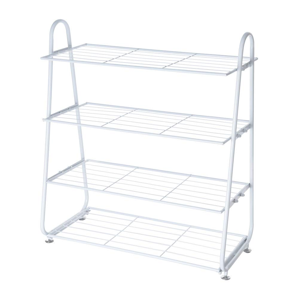 Alalaso 4 Tier Iron Mesh Utility Shoe Rack Shoes Stainless