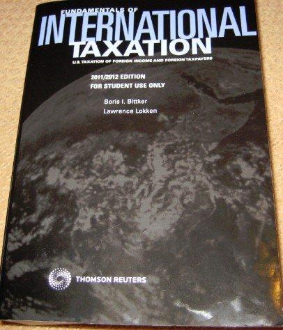Download FUNDAMENTALS OF INTL.TAXATION pdf epub