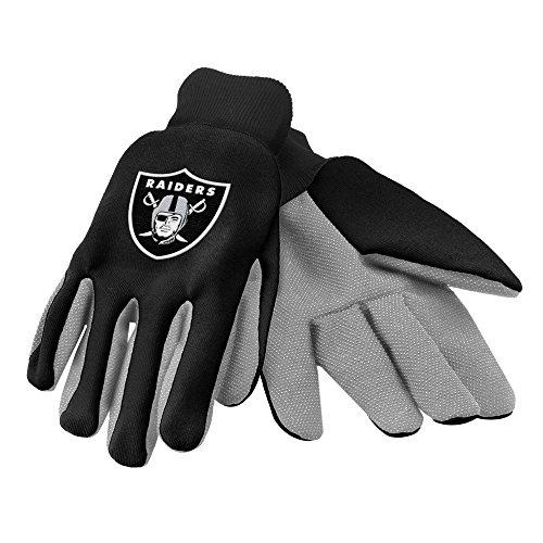 Oakland Raiders Official NFL 2015 Utility Gloves - Colored Palm (Jersey Raiders Official Team)