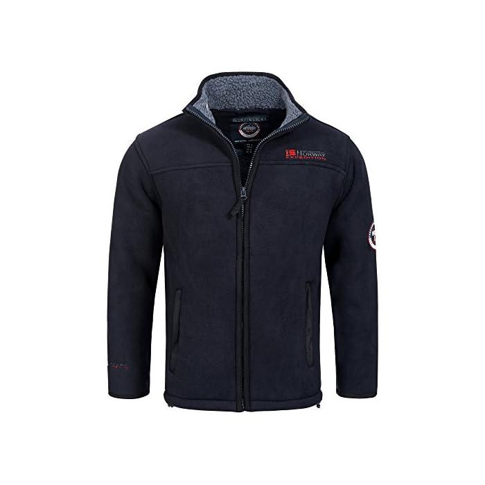 51CXfUIy5eL Geographical Norway ULMAIRE - Chaqueta de forro polar para hombre, forro polar cálido, forro de peluche, talla S-XXXL. 100% Poliéster chaqueta