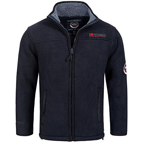 Geographical Norway Falun Mens Fleece Sweatshirt Jacket Outdoor Full Zip Trekking Thin Light