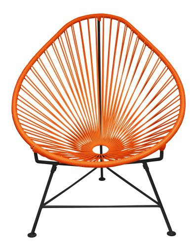 Cheap  Innit Designs Baby Acapulco Chair, Orange Weave on Black Frame