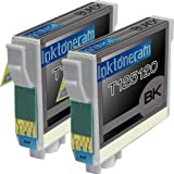 2 New Remanufactured T125120 Epson 125 T1251 Black Ink Cartridges WorkForce 320 323 325 520, Office Central