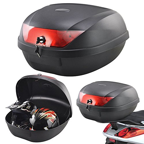 Tekbox Universal 52L Motorcycle 2 Helmet Top Box Luggage Storage For...