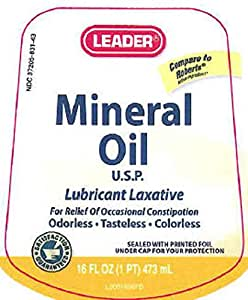 how to use mineral oil as a laxative