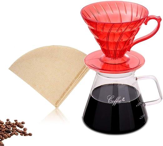 Juego de cafetera para verter,filtro de café de goteo manualmente ...
