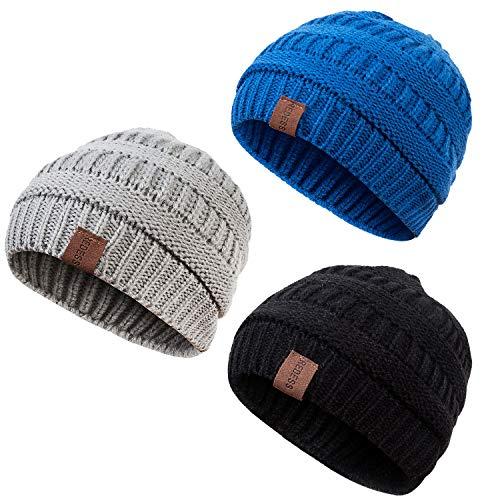 REDESS Baby Kids Winter Warm Fleece Lined Hats Infant Toddler Children Beanie Knit Cap Girls Boys