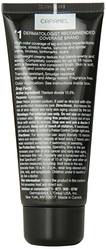 Dermablend Leg and Body Cover Make-Up SPF 15, Caramel, 3.4 Ounce