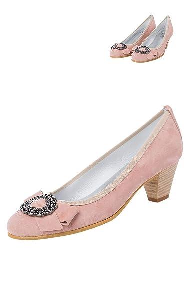 100% hohe Qualität weltweit verkauft speziell für Schuh HIRSCHKOGEL Moser Trachten Pumps Altrosa Liliana 132681 ...