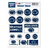 Wincraft NCAA Penn State University Vinyl Sticker Sheet, 5'' x 7''