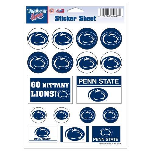 Penn State Stickers - WinCraft NCAA Penn State University Vinyl Sticker Sheet, 5