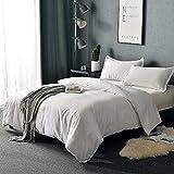 Balichun Duvet Cover Set Queen Size White Premium