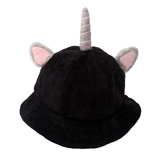 6fd5072afa2 Image Unavailable. Image not available for. Color  Baby Toddler Kids  Unicorn Wide Brim Sun Hat Cartoon Corduroy ...