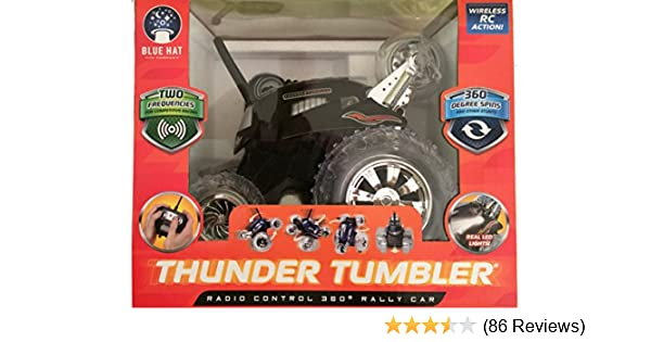 Radio Controlled 360 Thunder Tumbler  Rally Car Black Series green 49 MHZ