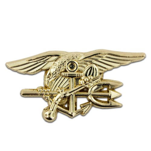PinMart's U.S. Navy Seal Team Tri Gold Lapel Pin (Seal Team Trident)