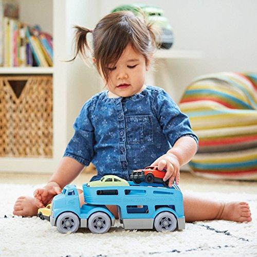 51CXi%2B4xNKL - Green Toys Car Carrier Vehicle Set Toy, Blue