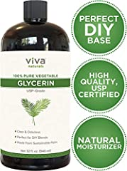 Vegetable-derived and sustainably harvested from non-GMO sources, Viva Naturals 100% pure liquid glycerin is the perfect base for natural skin care and beauty blends. It's silky, non-sticky and absorbs fast, making it the ideal moisturizing i...