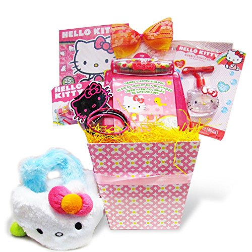 Hello Kitty Toiletry Ideal Christmas Gift Basket for Girls Under 8 (Candy Gift Baskets Girl compare prices)