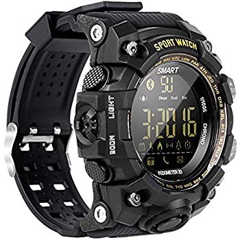 Amazon.com: N NEWKOIN Smart Watch Sports Watch IP68 ...