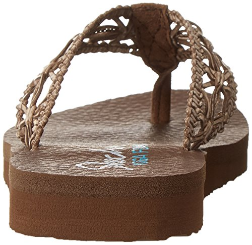 Skechers Cali meditación-Ocean Breeze flip-flop Brown