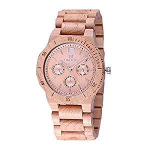 WTRW011-Beige Natural Wooden Wrist Watches Men Women Watch Fashion