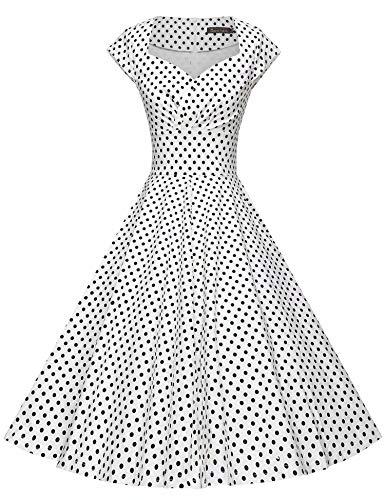 d9f482a11232 GownTown Womens Dresses Party Dresses 1950s Vintage Dresses Swing Stretchy  Dresses