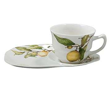 Gracie China Lemon 2-Piece Porcelain Snack Set 8-Inch Tray 4-  sc 1 st  Amazon.com & Amazon.com | Gracie China Lemon 2-Piece Porcelain Snack Set 8-Inch ...