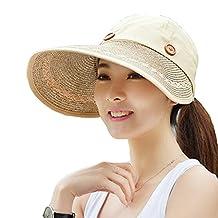 Surker UV Protection Wide Brim Summer 2in1 Visor Sun Hat