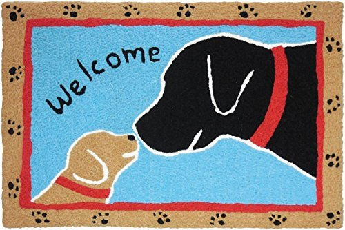 jellybean welcome dogs accent rug