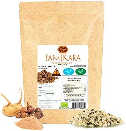 Hemp Macau (Cañamo + Maca + Cacao) Ecológico | BIO | Organic - Mezcla Proteina Vegana Energetica Nutritiva - Samskara Superfoods … (1kg)