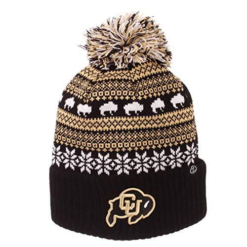 (Zephyr NCAA Colorado Buffaloes Unisex Carouselcarousel Knit, Black, One Size)