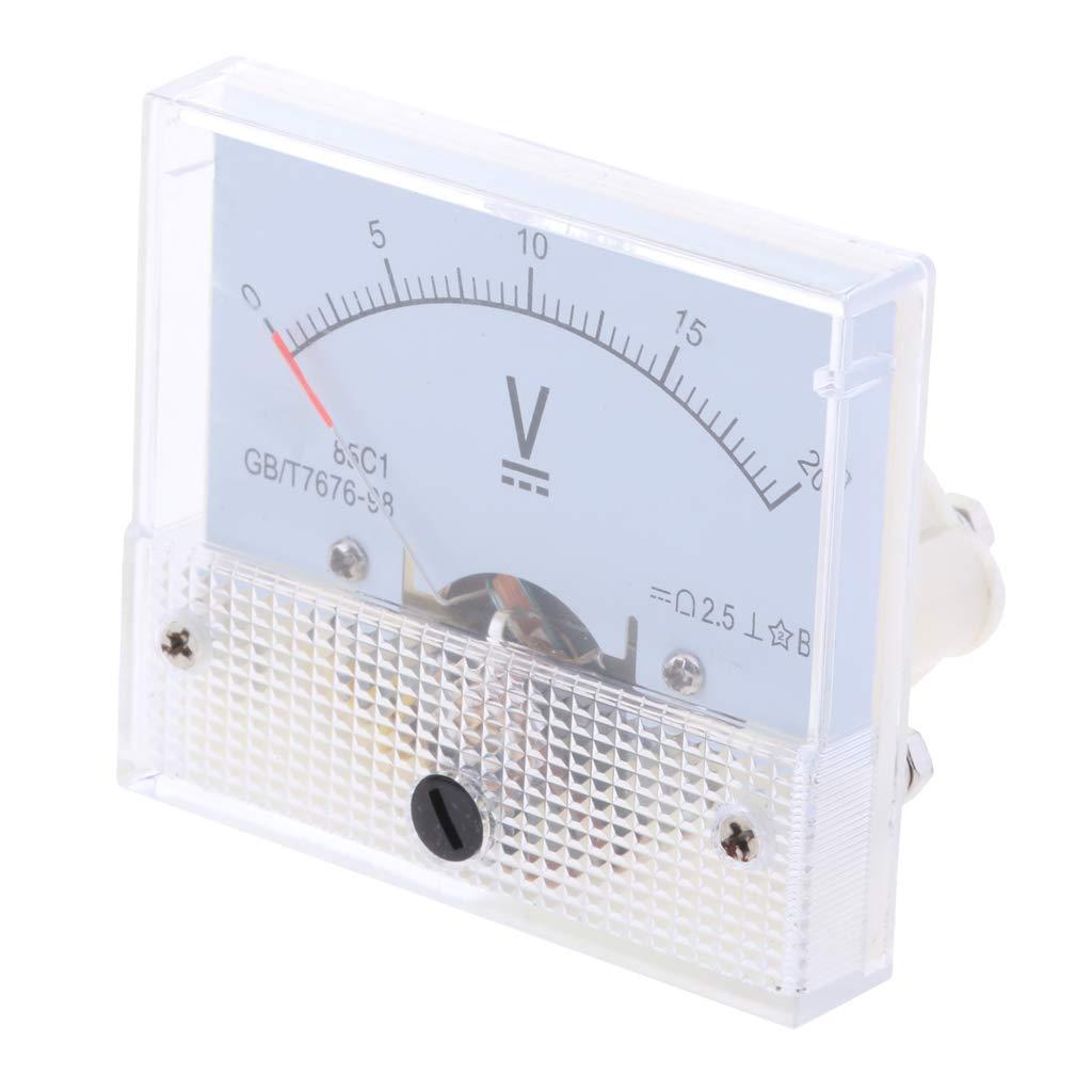 Sharplace Amperem/ètre Analogique Voltm/ètre Jauge Panneau Compteur Testeur Amp Metres Manom/ètre 0-600 V