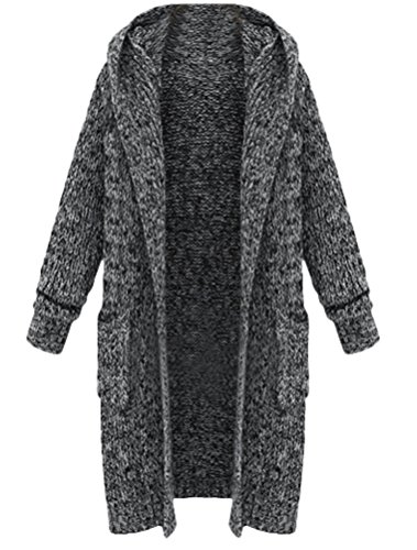 Chaud en Pull Poncho Cardigan ouvert Gilet Gris manches longues Lourd Tricot MatchLife Femme wz0aqxEqY