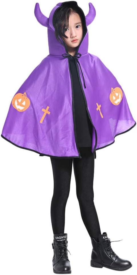 Cinnamou Halloween Bruja de Cuerno Disfraz para Niña Niño, Traje ...