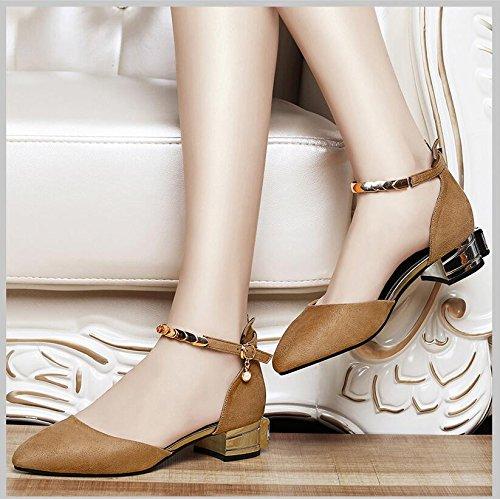 Khskx Patins Travaillant Au Les Nouvelle Embout 3cm Chaussures 36 Kaki Femmes La Fendue De Professionnel Pour Printemps Lumière Avec Rugueux wf4frOqX