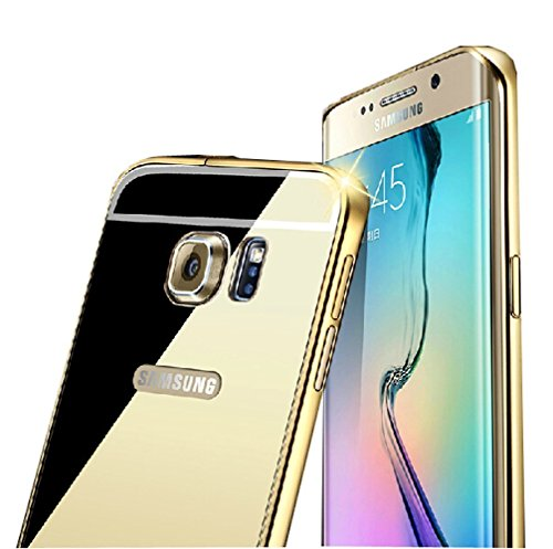 Samsung Galaxy S6 Edge Plus Mirror Case, Little Sky(TM) Luxury Anti-scratch Ultra thin Mirror Metal Aluminum Frame Case for Samsung Galaxy S6 Edge +/Plus(Gold)