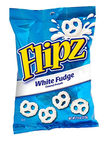 Flipz White Fudge Pretzel, 7.5-Ounce (Pack of ()