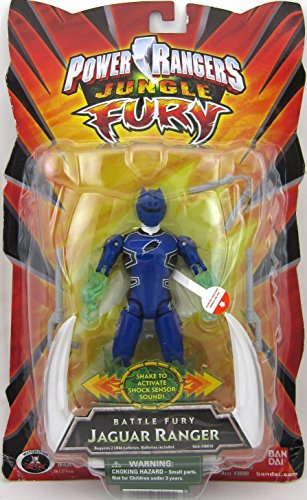 Power Rangers Jungle Fury Battle Fury Blue Jaguar Ranger 5
