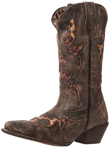 Laredo Women's Aphfrika Western Boot,Black/Tan,10 M US