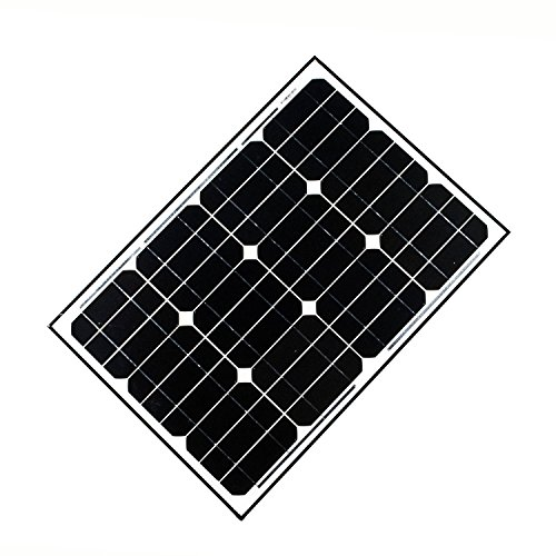 ALEKO SP40W12V 40 Watt 12 Volt Monocrystalline Solar Panel for Gate Opener Pool Garden Driveway by ALEKO