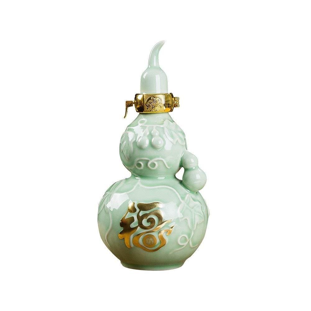 SHENGSHIHUIZHONG 陶器ひょうたん水差しワインボトル500ミリリットル/ 1000ミリリットルワインジャー、ワインポット家の装飾空ボトル 品質、ウェアラブル、そして耐久性 (Capacity : 100ml) 100ml  B07RSMC97R
