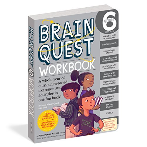 Brain Quest Workbook: Grade 6 - Test Math 4 Grade