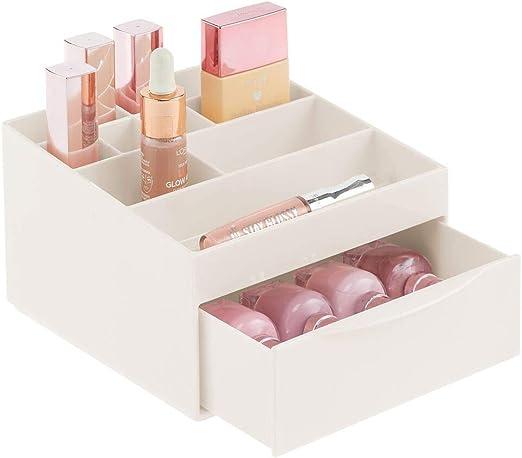 mDesign Caja organizadora para el cuarto de baño o el tocador ...