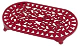Large Oval Trivet in Chilli Red