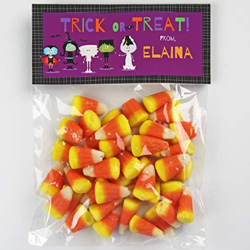 Ghoulish Friends Halloween Candy Bag Toppers | Halloween Candy Bags | Halloween Party Favors | (20) Per -