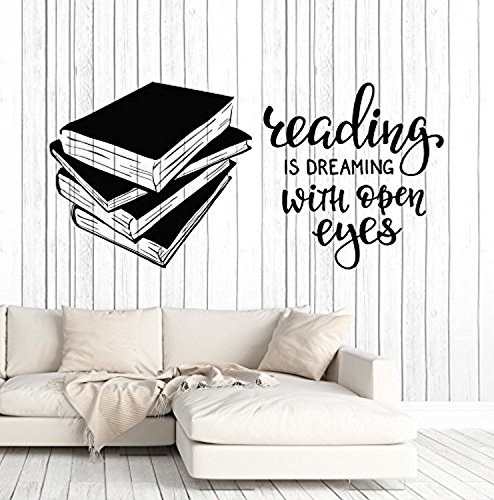 Art of Decals Vinyl Wall Decal Books Quote Reading Room Library Book Shop Stickers Large Decor 847